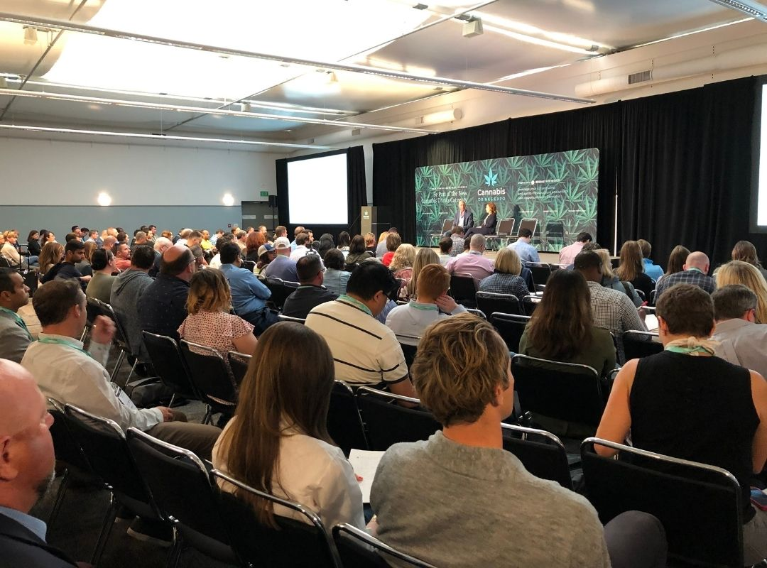 A still from the 2019 Cannabis Drinks Expo Conference